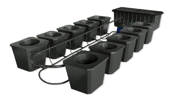 SuperPonics 10-Plant Bubble Flow Buckets Hydroponic Grow System - GrowTech Garden