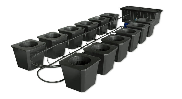 SuperPonics 12-Plant Bubble Flow Buckets Hydroponic Grow System - GrowTech Garden