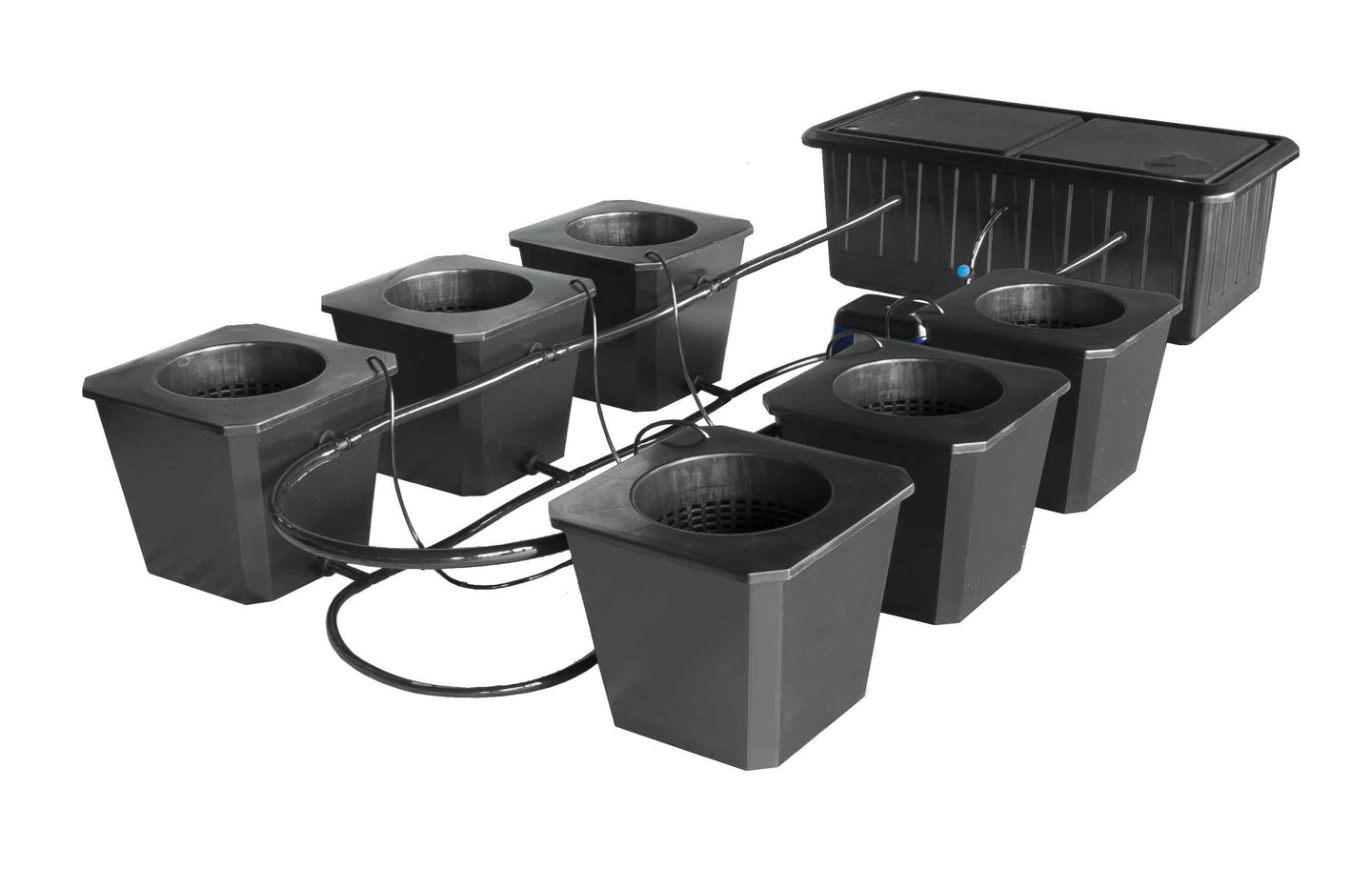 SuperPonics 6-Plant Bubble Flow Buckets Hydroponic Grow System - GrowTech Garden