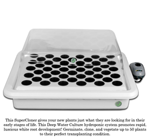 SuperPonics SuperCloner 50-Site Hydroponic Cloner System - GrowTech Garden
