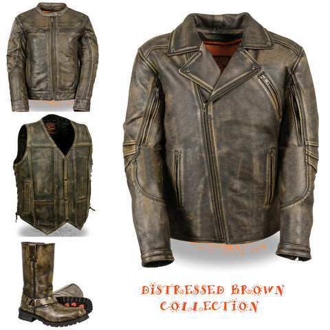 Men's Distressed Brown Collection
