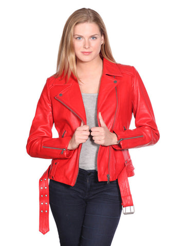 NUBORN LEATHER MONICA LEATHER MOTO JACKET