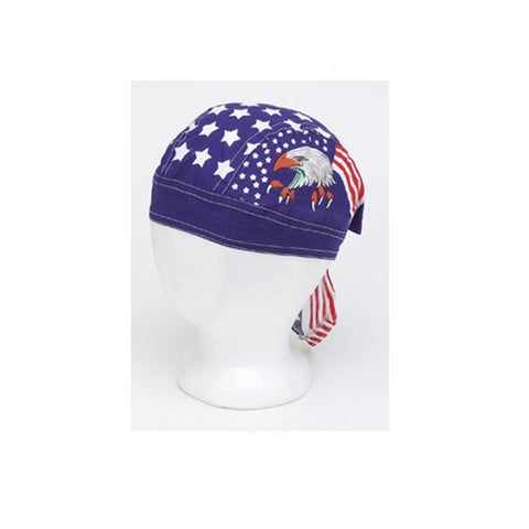Cotton Skull Cap with Eagle, Stars & Stripes