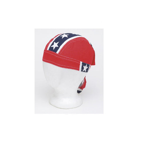 Cotton Skull Cap with Full Rebel Flag
