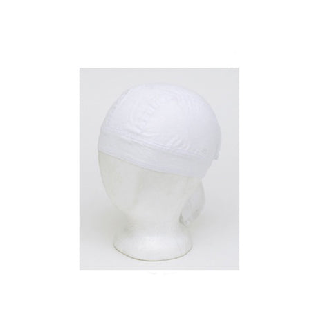 Cotton Plain White Skull Cap