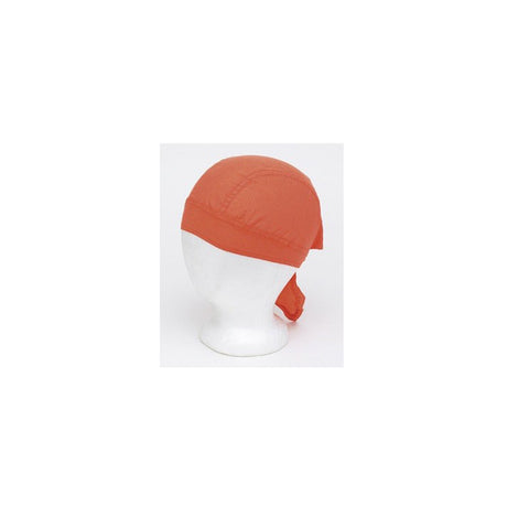 Cotton Plain Orange Skull Cap
