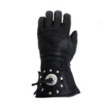 Leather Motorcycle Gloves With Concho