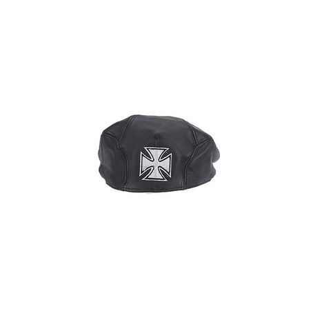 Leather Cap With Chopper