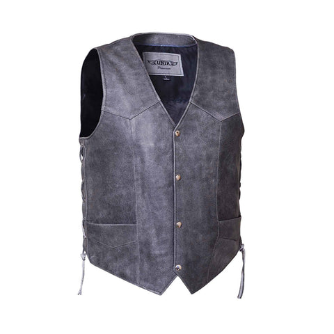 Mens traditional snap front TOMBSTONE GREY vest