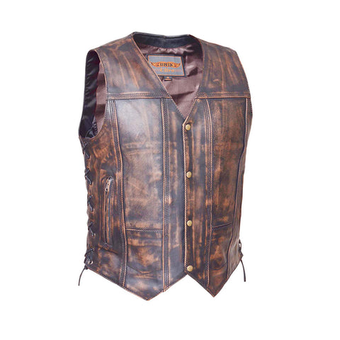 Mens NEVADA BROWN 10 Pocket Vest