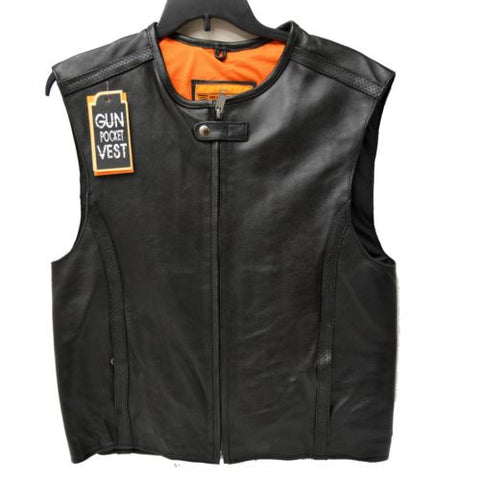 MEN'S MOTORCYCLE BIKERS VEST SWAT STYLE SPEEDSTER CLUB LEATHER VEST NEW BLACK