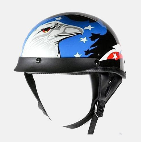 MOTORCYCLE RIDING 200 DOT APPROVED HELMET W/ EAGLE GRAPHICS COMFORTABLE BLACK