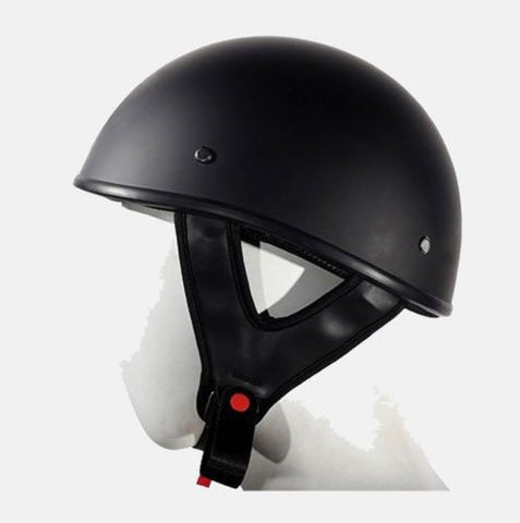 MOTORCYCLE MOTORBIKE DOT APPROVED FLAT HALF RIDING HELMET LIGHTWEIGHT BLACK NEW