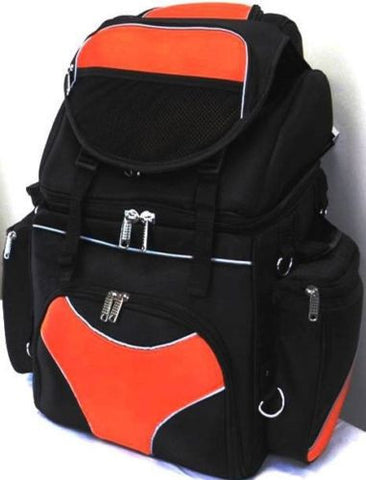 MOTORCYCLE LARGE SISSY TRAVEL BAR BAG BACK PACK TRAVEL LUGGAGE ORANGE NEW