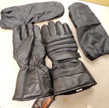 MEN'S MOTORCYCLE GLOVES RIDING GLOVE INSULATED RAIN COVER GAUNTLET GLOVES BLACK