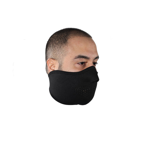 Black Motorcycle Neoprene Face Mask