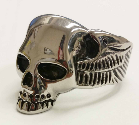 STAINLESS STEEL MEN'S LIFE AFTER DEATH RING