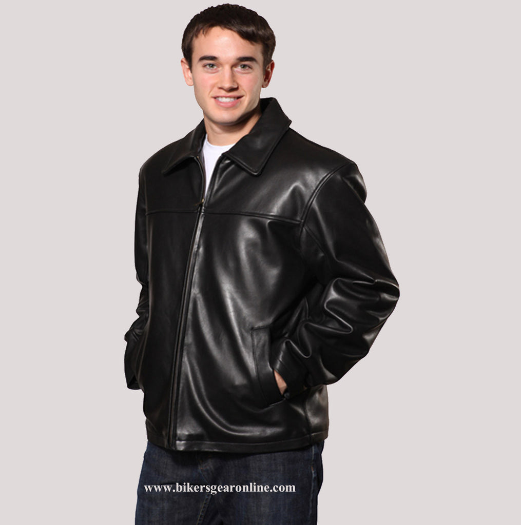 5ddb6e8a459 MEN S PLAIN FRONT ZIPPER REAL BUTTER SOFT LEATHER NEW-ZEALAND LAMB SKI –  zaynleather