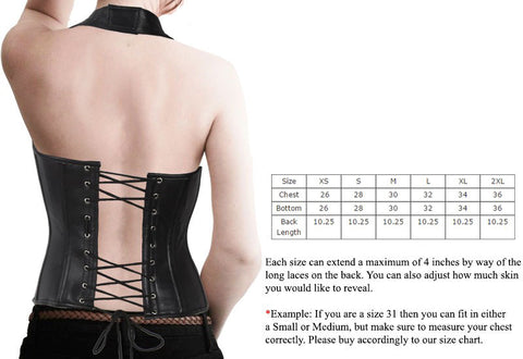 f4365349605 WOMEN S BLK SEXY BUSTIER CORSET LINGERINE WITH FRONT STUDS AND BUCKLES