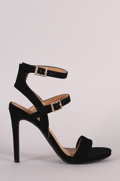 Anne Michelle Nubuck Triple Straps Single Sole Heel - Kaneli Nomad Boutique