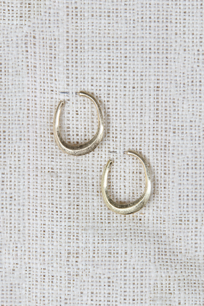 Open Hoop Push Back Earrings - Kaneli Nomad Boutique