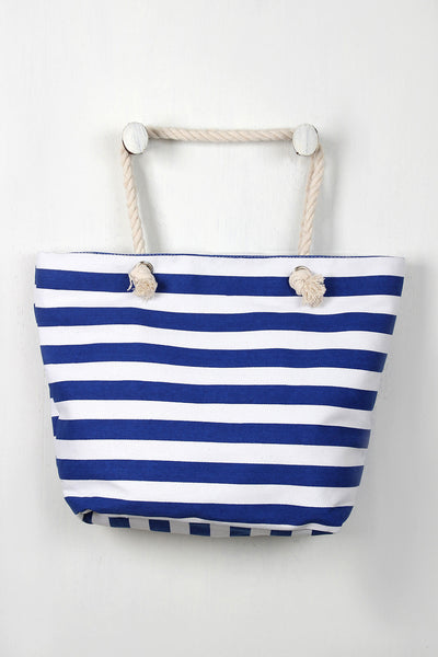 Beach Stripes Tote Bag - Kaneli Nomad Boutique