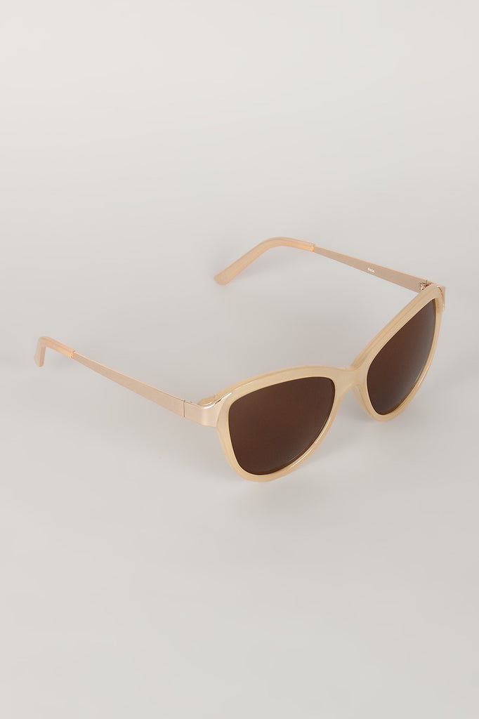 Curved Wing Silhouette Sunglasses - Kaneli Nomad Boutique