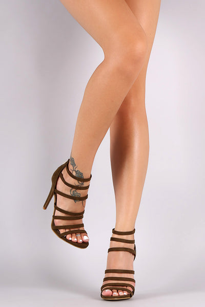 Anne Michelle Strappy Open Toe Stiletto Heel - Kaneli Nomad Boutique