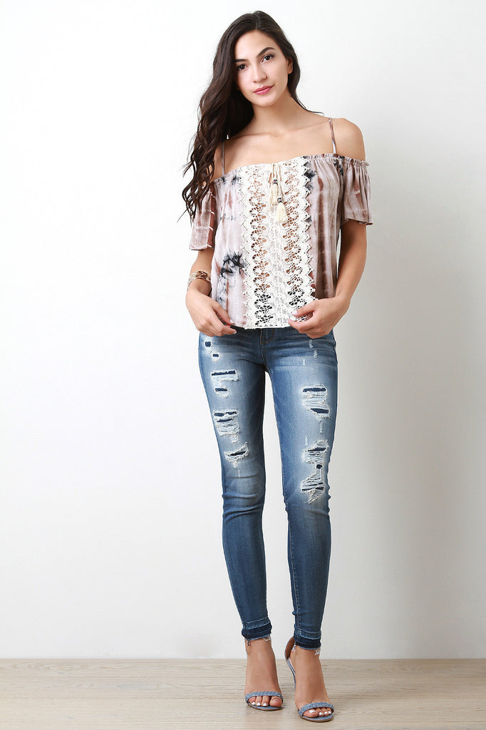 Mid Rise Undone Distressed Denim Jeans - Kaneli Nomad Boutique