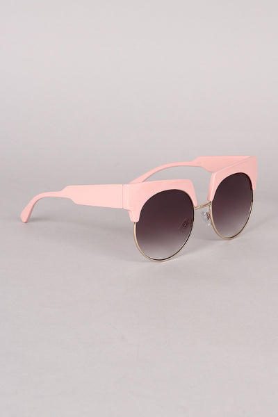 Semi Rimless Horn Rimmed Sunglasses - Kaneli Nomad Boutique