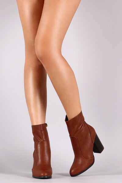 Bamboo Stitch Trim Zip-Up Booties - Kaneli Nomad Boutique