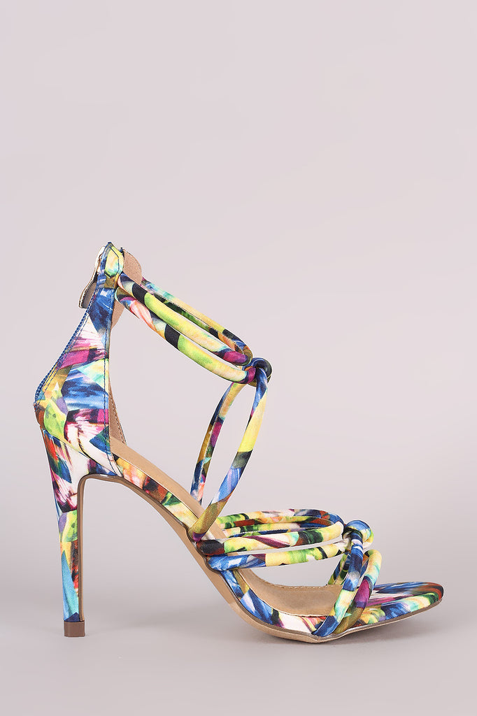 Liliana Kaleidoscope Strappy Knotted Single Sole Heel - Kaneli Nomad Boutique