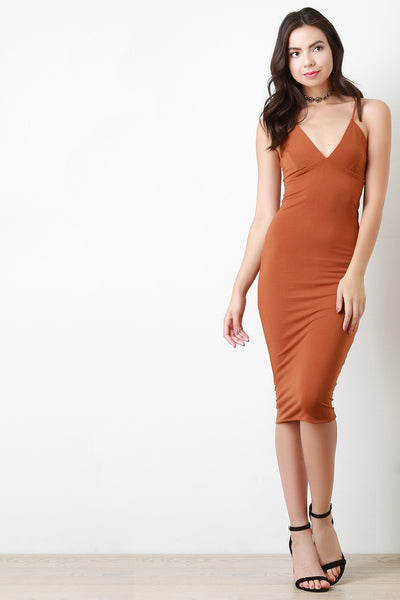 Cami Bodycon Midi Dress - Kaneli Nomad Boutique