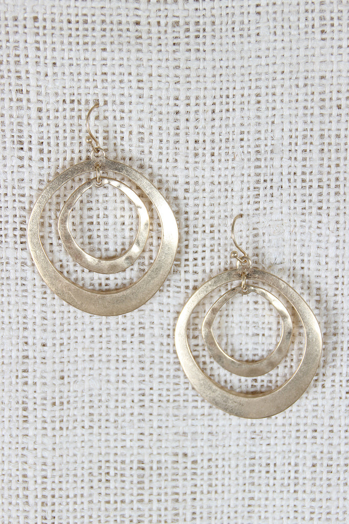Imperfect Circles Dangle Earrings - Kaneli Nomad Boutique