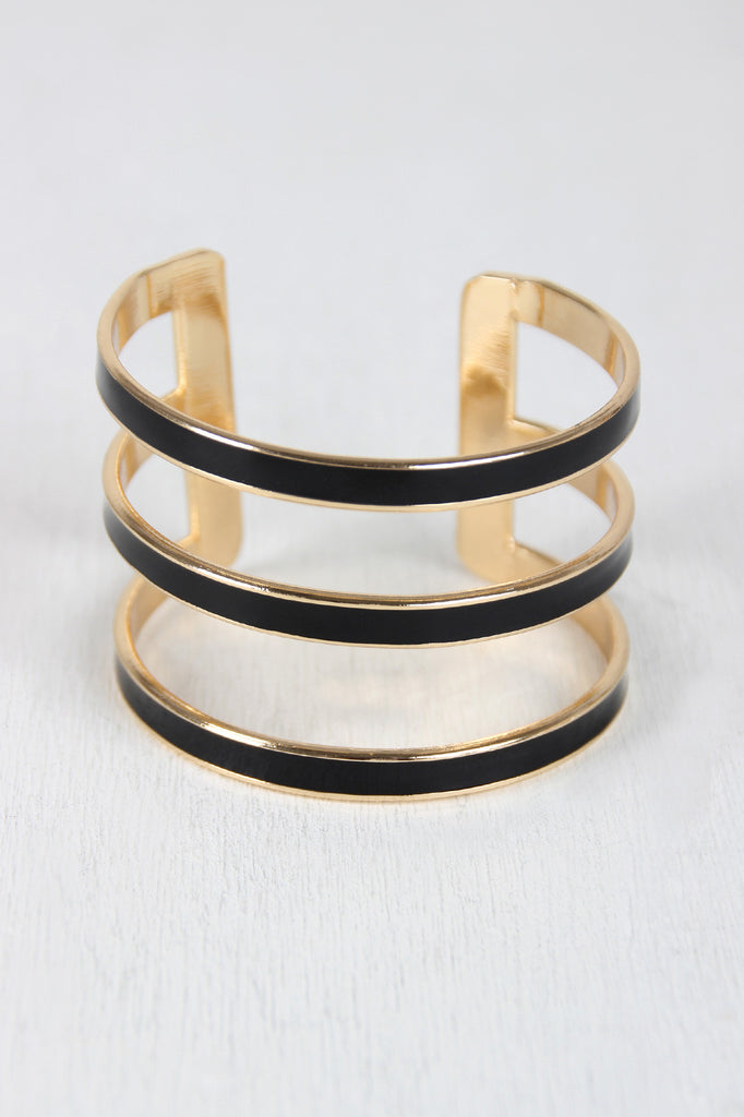 Open Stripe Cuff - Kaneli Nomad Boutique