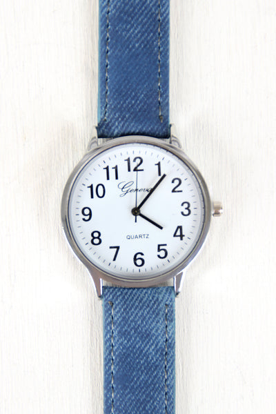 Keeping It Casual Denim Watch - Kaneli Nomad Boutique