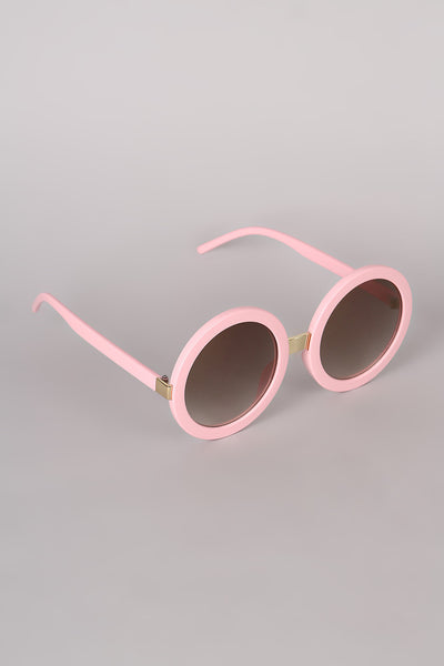 Mirrored Round Plastic Frame Sunglasses - Kaneli Nomad Boutique