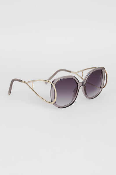 Open Side Square Frame Sunglasses - Kaneli Nomad Boutique