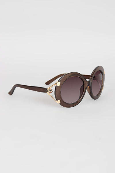 Wild Thing Round Frame Sunglasses - Kaneli Nomad Boutique