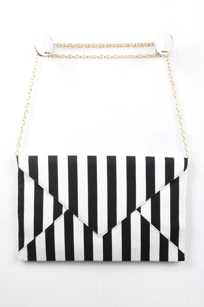 Striped Envelope Clutch - Kaneli Nomad Boutique