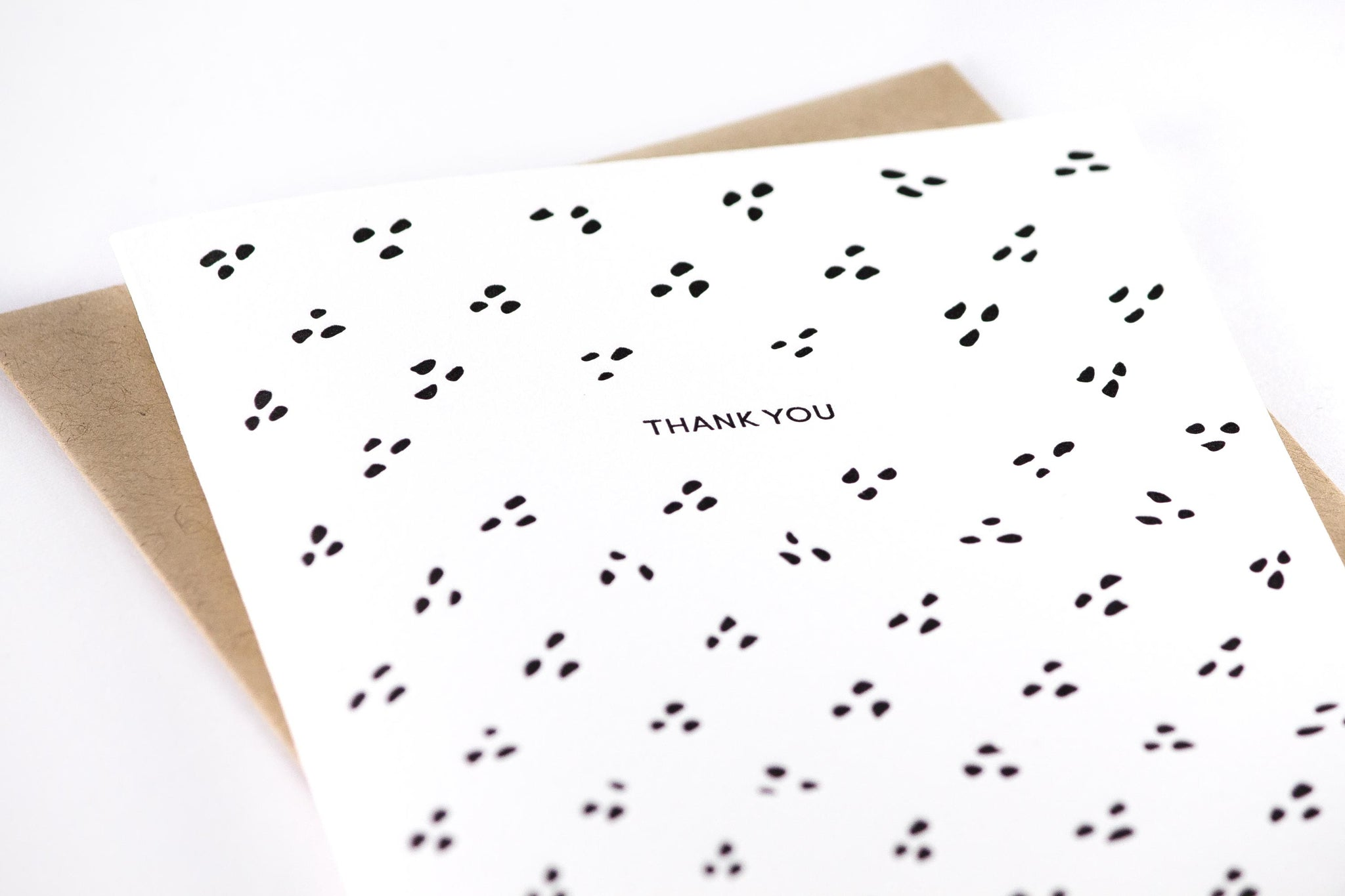 Thank You Dots Letterpress Card And Card Sets Stationery