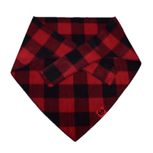 Red Buffalo Plaid Bandana for Big Dog Breeds