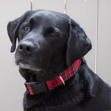 Red Tartan Plaid Collar for Big Dog Breeds