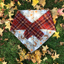Autumnal Animals Fall Bandana for Big Dogs