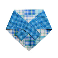 Summer in Cape Cod Blue Madras Big Dog Bandana