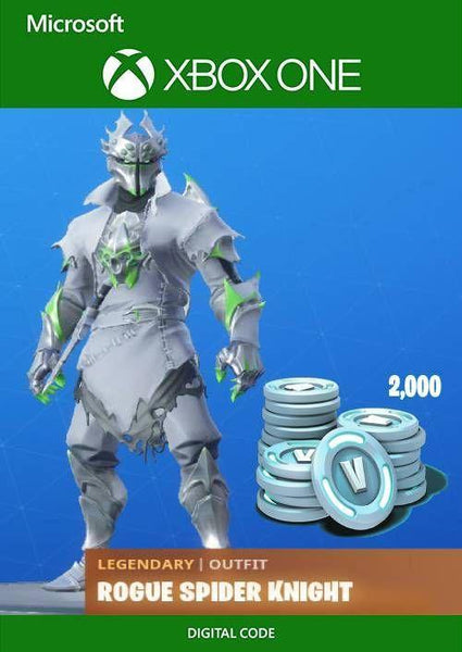Fortnite: Legendary Rogue Spider Knight Outfit + 2000 V-Bucks Bundle Xbox One - E-Gamer