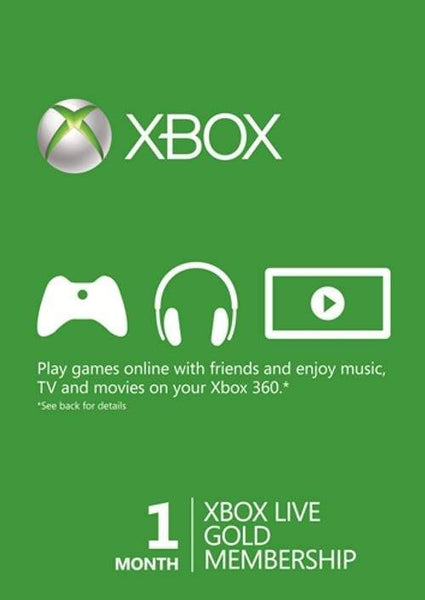 1 Month Xbox Live Gold Membership (Xbox One/360) - E-Gamer