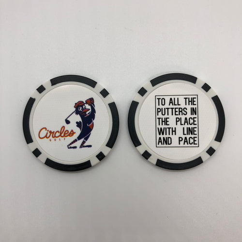 Poker Chip Ball Mark - To All The Putters In The Place With Line And Pace