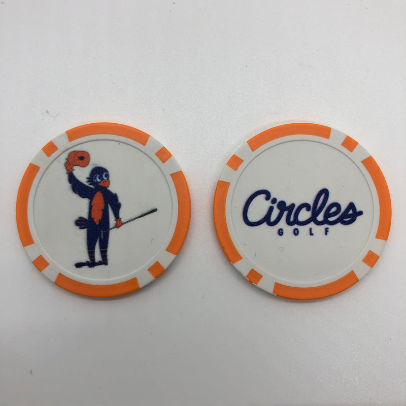 Poker Chip Ball Mark - Chirps Crowd Salute