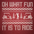 Oh What Fun It Is To Ride Christmas Golf T-Shirt